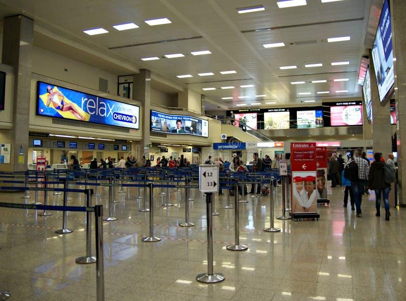 Malta Lotniskowy Międzynarodowy Terminal zdjęcia stock