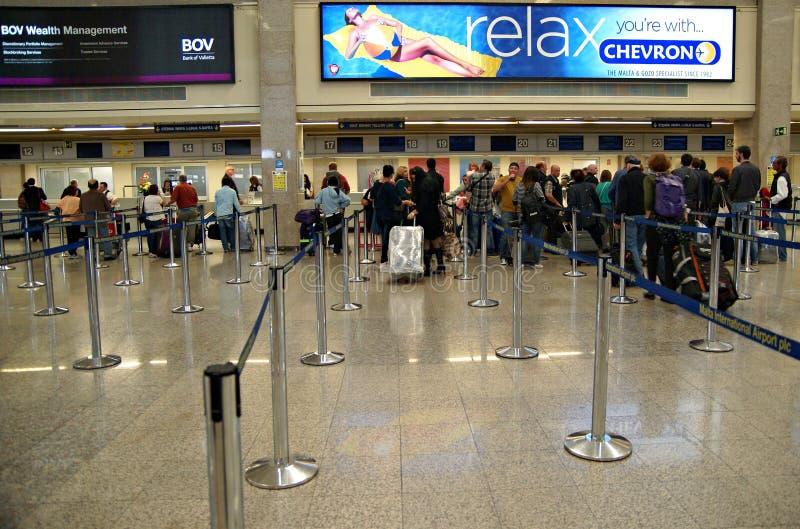 Malta Lotniskowy Międzynarodowy Terminal zdjęcie royalty free