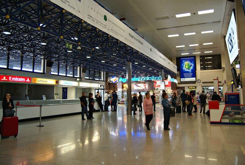 Malta Lotniskowy Międzynarodowy Terminal fotografia royalty free