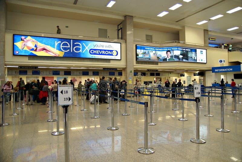 Malta Lotniskowy Międzynarodowy Terminal obrazy royalty free