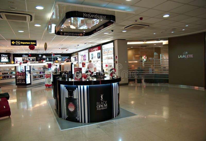 Malta Lotniskowy Międzynarodowy Terminal obrazy stock