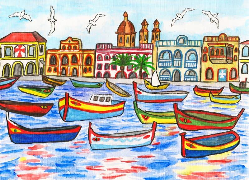 Malta, maluje ilustracji