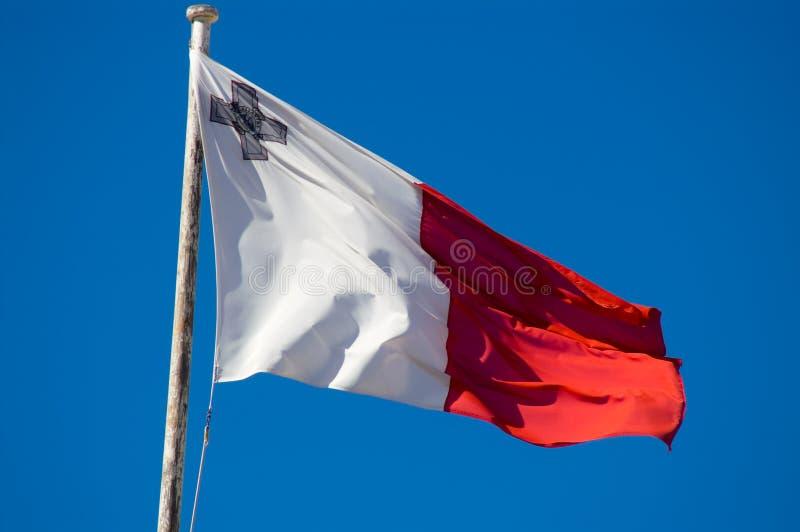 Malta-Markierungsfahne stockbild