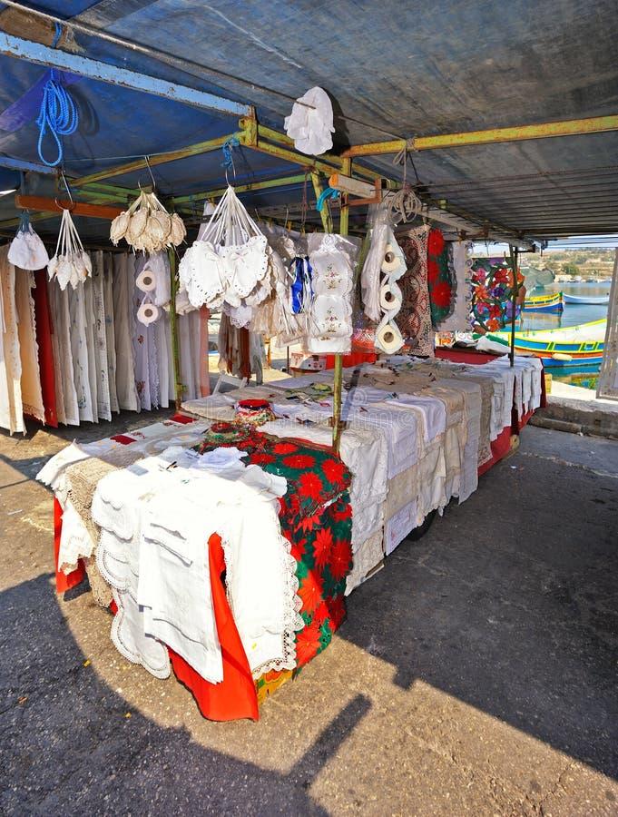 Malta-- Marsaxlokk Markt stockfotografie
