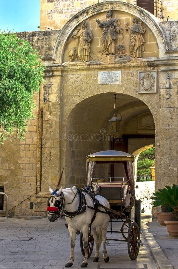 Malta, Mdina, ciudad silenciosa foto de archivo