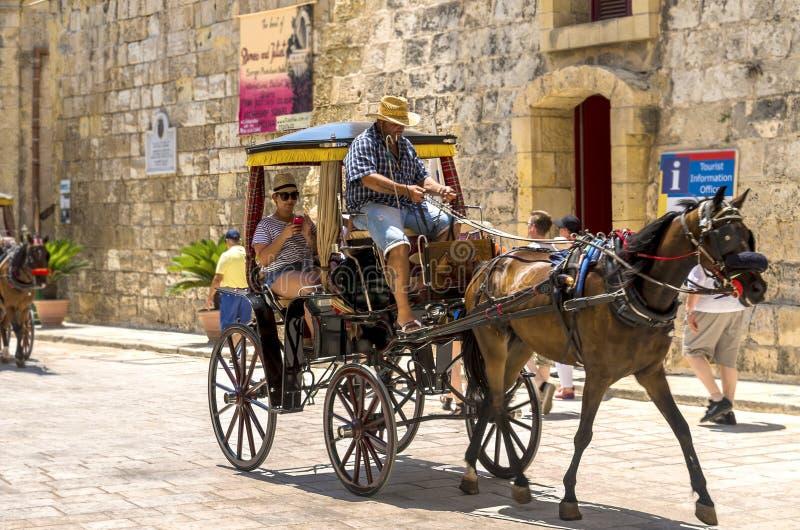 Malta, Mdina, ciudad silenciosa imagen de archivo