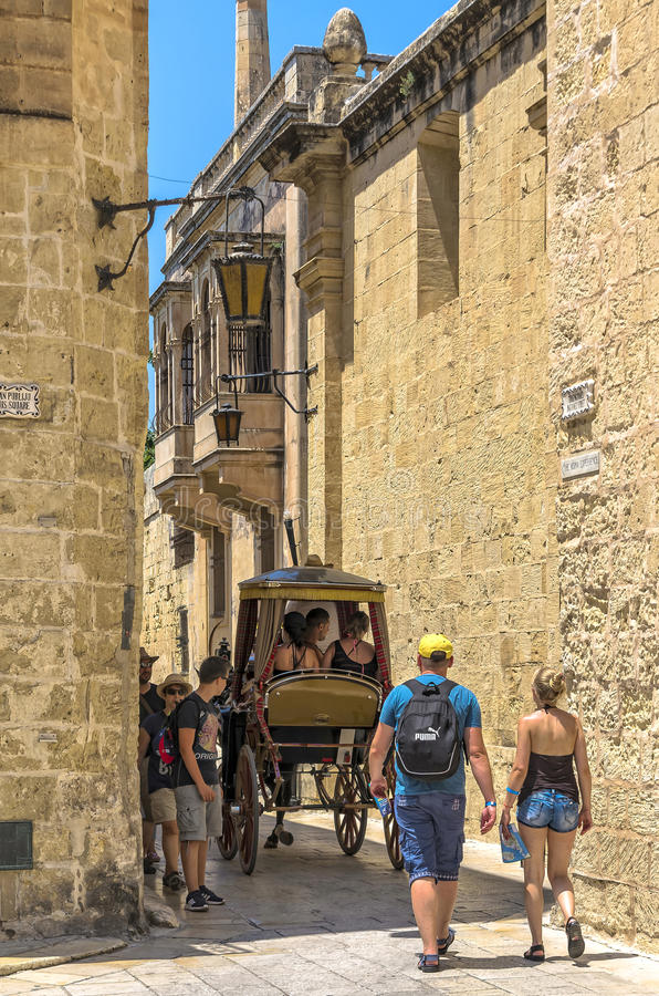Malta, Mdina, ciudad silenciosa imagen de archivo libre de regalías
