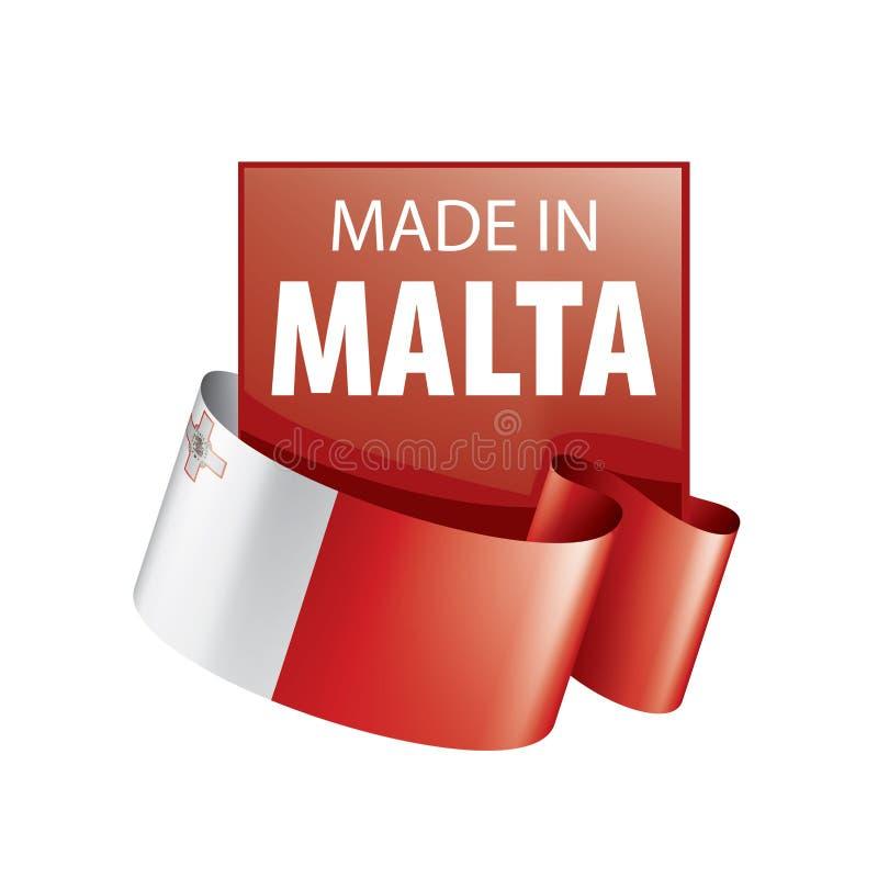 Malta flag, vector illustration on a white background royalty free illustration