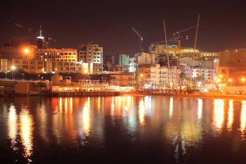 Download Malta by night stock photo. Image of saint, crane, outdoor - 19432158