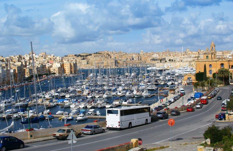 malta panorama arkivbild