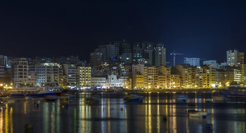 Malta - panorama av Sliema royaltyfria bilder