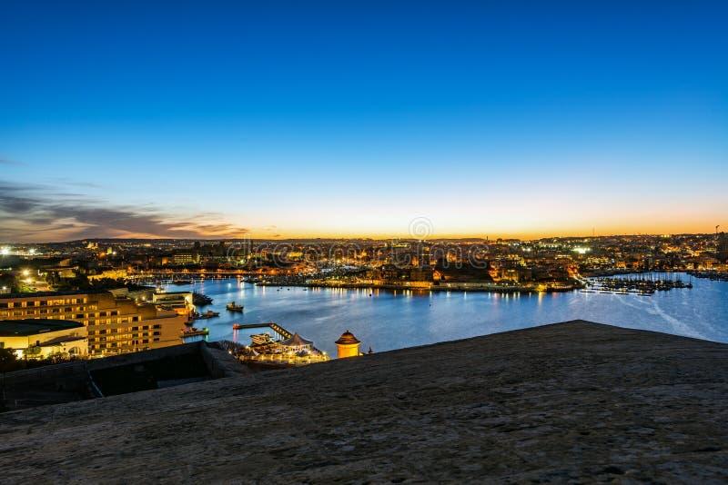 malta panorama valletta fotografering för bildbyråer