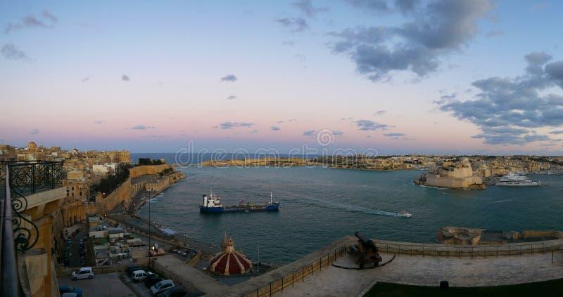 malta panorama Valletta zdjęcia stock