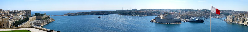 Malta panorama royalty free stock images