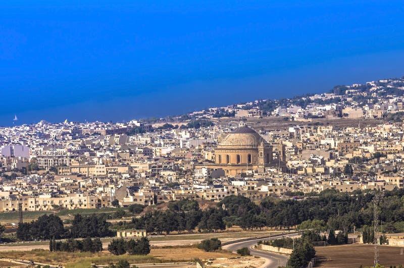 Malta panoramautsikt arkivfoto