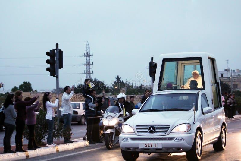 Malta papal visit stock image