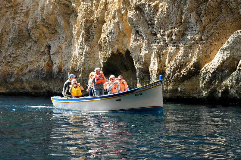 Malta, the picturesque site of Blue Grotto. Republic of Malta, the picturesque site of Blue Grotto in Wied Iz Zurrieq stock photography