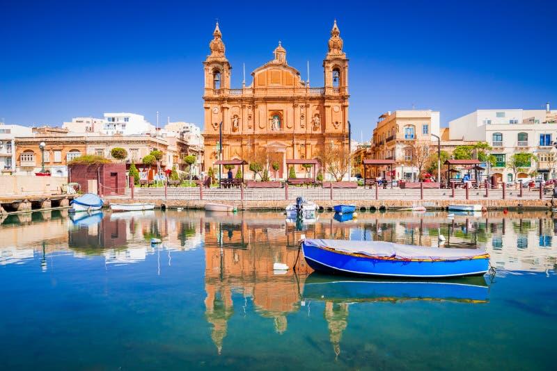Malta, porticciolo di Msida a La Valletta fotografia stock