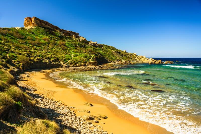 Malta Riviera plaża, Mgarr obraz royalty free
