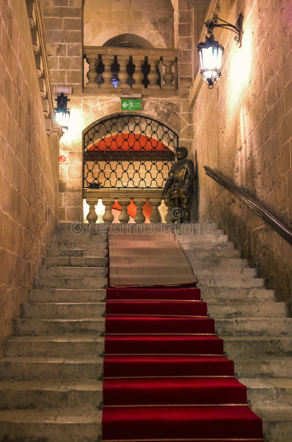 Malta - Sacra Infermeria. Sacra Infermeria, the Knights' hospital built in Valletta in 1575 - Valletta, Malta royalty free stock images
