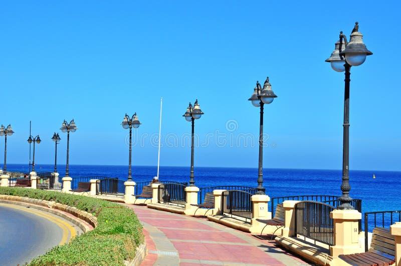 Download Malta seafront stock photo. Image of horizon, street - 40926572