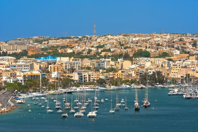 Malta sikter av Valletta fotografering för bildbyråer