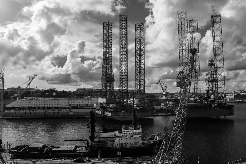 Malta skeppbyggnad och repareragård royaltyfri foto