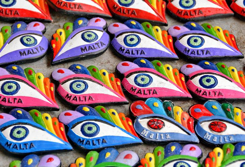 Malta Souvenir. Malta, The Eye of Osiris colorful souvenir royalty free stock images