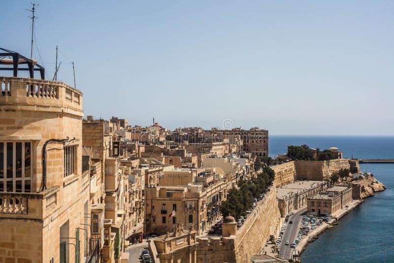 Malta stad royaltyfri foto