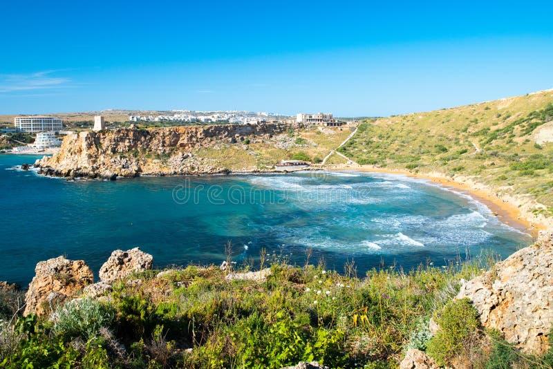 Malta-Strand stockfoto