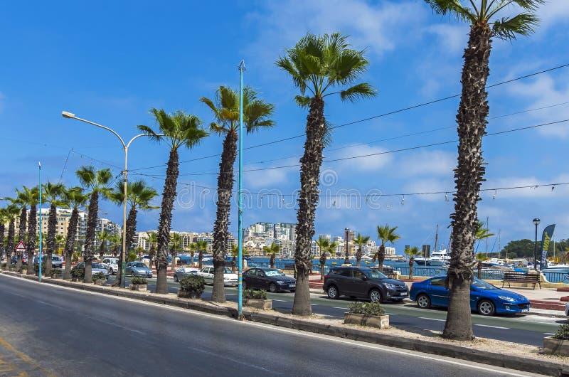 Malta - Streets of Sliema royalty free stock photo