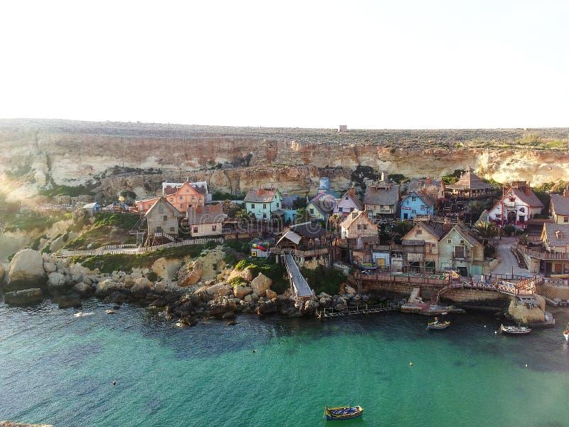 Malta in summer. Malta popeye village summer fanous stock images