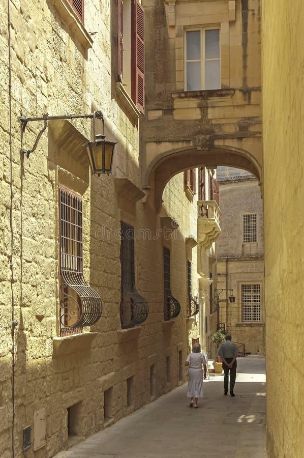 Malta tyst stad royaltyfri fotografi