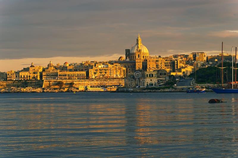Malta, Valletta stock fotografie