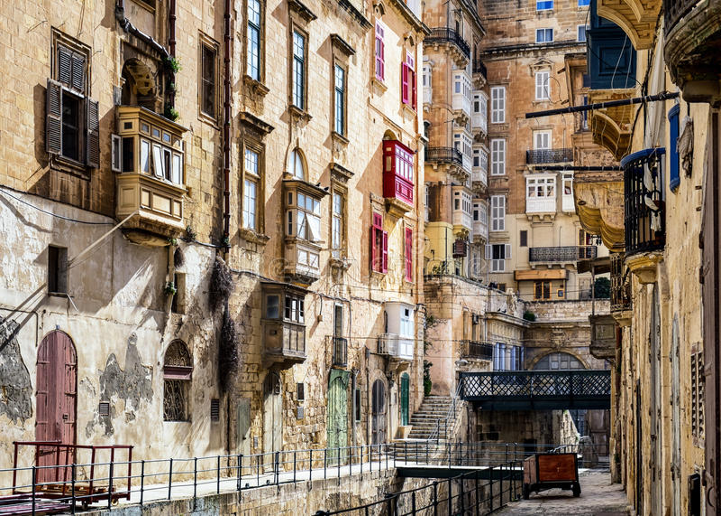 Malta - Valletta royaltyfri bild