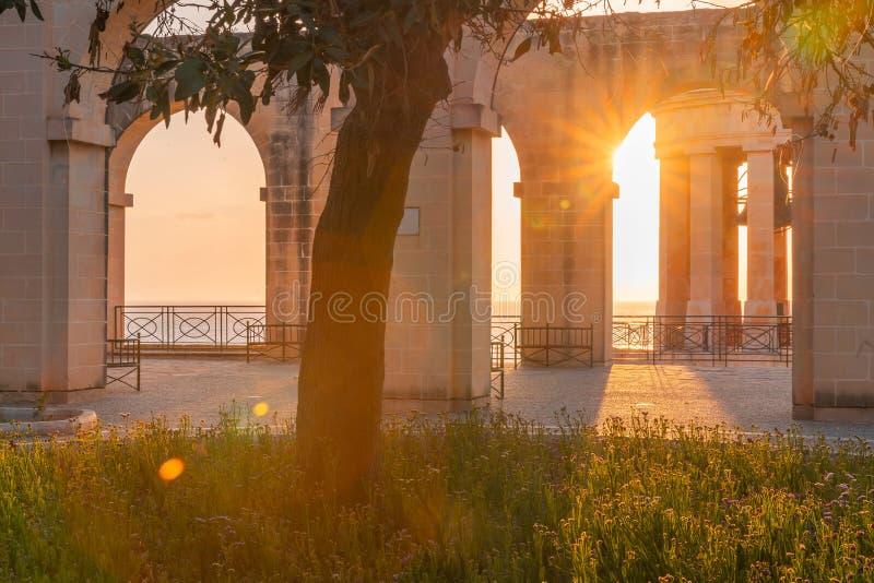 malta valletta Jardines superiores de Barrakka foto de archivo libre de regalías