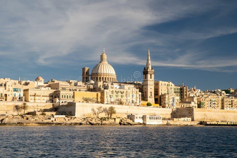 Malta. Valletta skyline royalty free stock photography