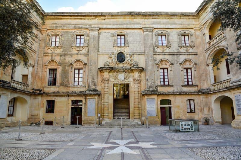 Malta Vilhena palace courtyard royalty free stock photos