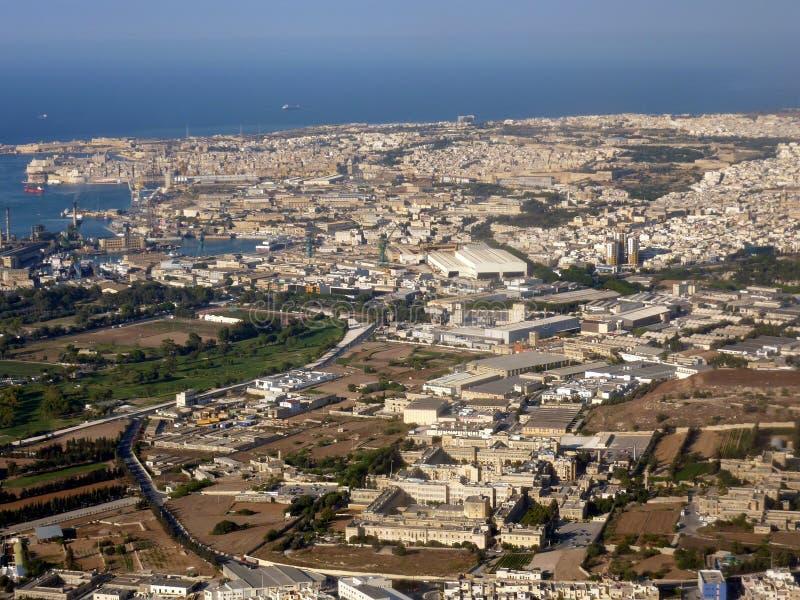 Malta, vista aerea immagini stock