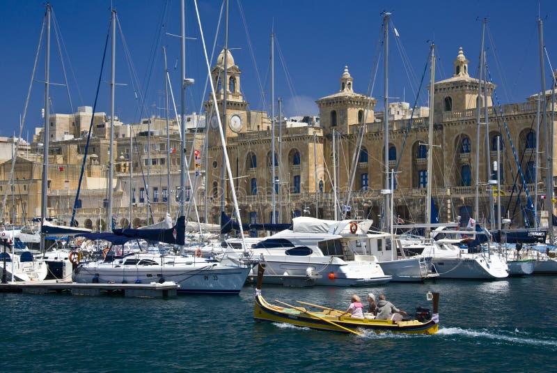 Malta - Vittoriosa i Valletta arkivfoton