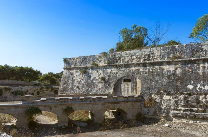 Malta, widoki Floriana zdjęcia royalty free