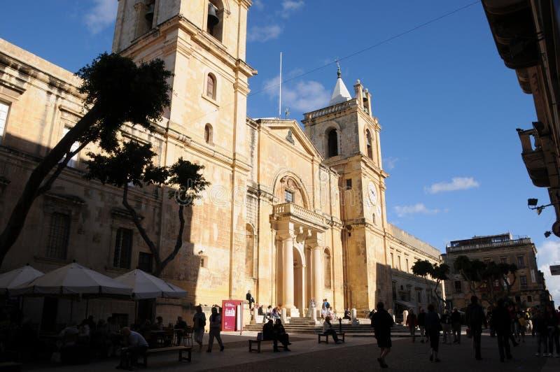 Malte : La cathédrale de St Johns de barock-église à La Valette images libres de droits