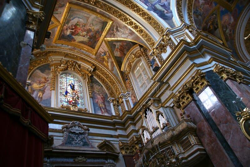 Maltese Church Interior Royalty Free Stock Photography