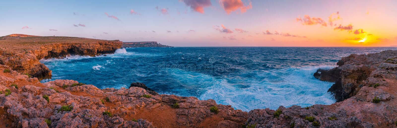 Maltese coast stock photos