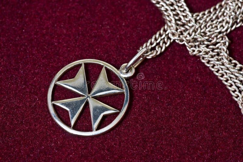 Maltese cross pendant stock image image of jewelry maltese 3543849 a maltese cross silver pendant on velvet background aloadofball Images
