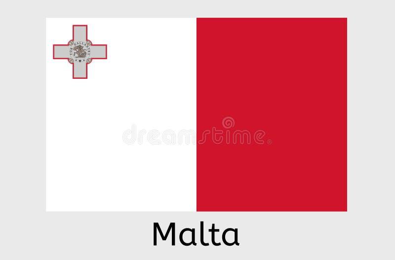 Maltese flag icon, Malta country flag vector illustration royalty free illustration