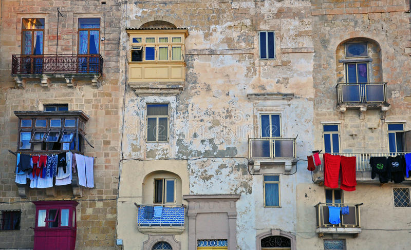 Download Maltese houses in Valletta stock photo. Image of malta - 38009406