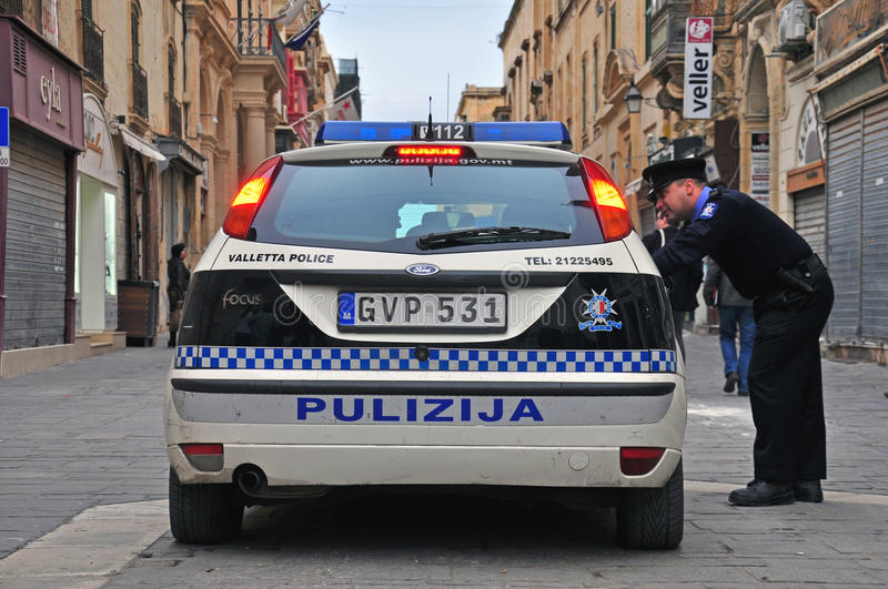 Download Maltese police editorial stock image. Image of sign, patrol - 38382484