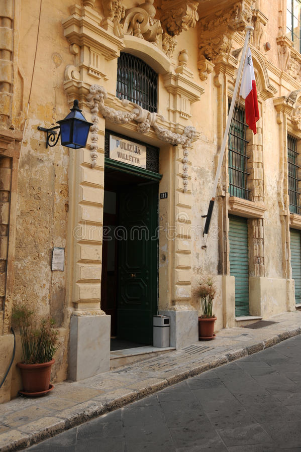 Maltese police station stock images