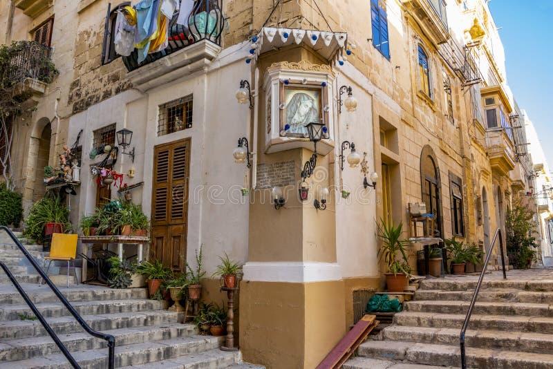 Maltese streetscape royalty-vrije stock foto